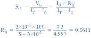 محاسبه تبدیل متر PMMC به آمپرمتر DC