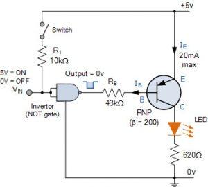 مدار سوئیچینگ ترانزیستور PNP