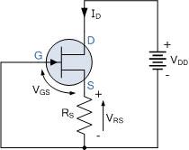 ولتاژ گیت به منبعولتاژ JFET