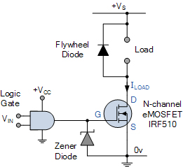 مدار سوئیچ اصلی MOSFET