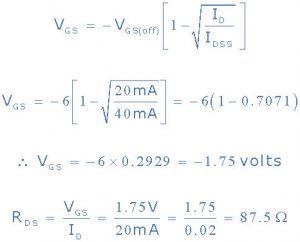 1)VGS برای شناسه = 20Ma
