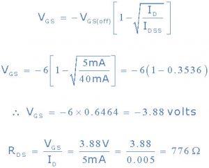 2)VGS برای ID = 5mA