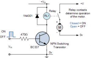 روشن / خاموش کنترل موتور DC