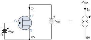 بایاس ولتاژ منفی JFET