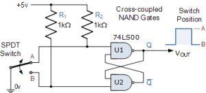 تعویض Debounce با NAND
