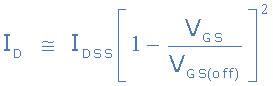 معادله جریان JFET تخلیه