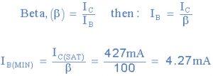 حداقل جریان پایه IB (MIN)